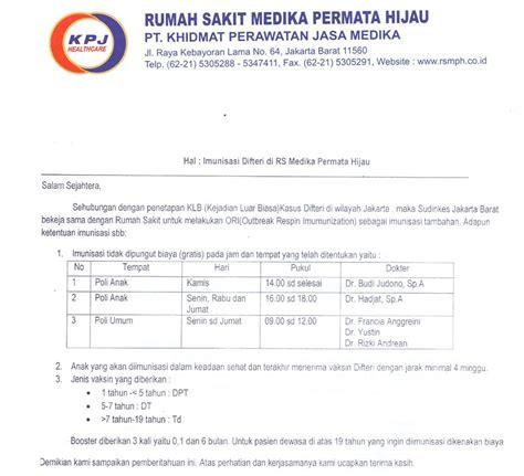 Contoh Berita Acara Pasien Bpjs by Rumah Sakit Medika Permata Hijau