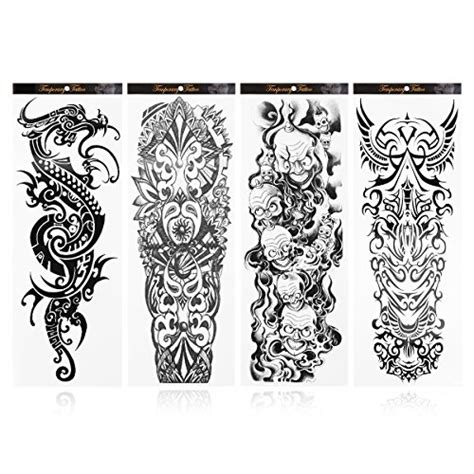 long lasting temporary tattoo rosenice temporary sticker arm tattoos