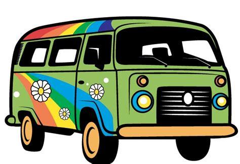 Retro Camper by Image Gallery Hippie Van Cartoon