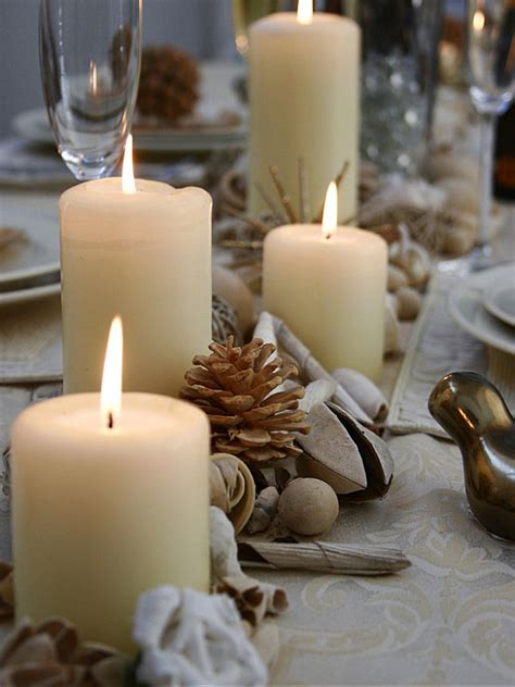 table centerpieces with candles thanksgiving centerpieces ideas for a festive table