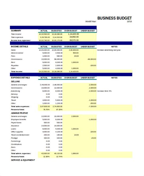 excel monthly budget template 18 free excel document