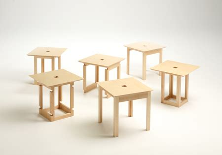Six Tables by Cube 6 Tables In A Box Green Design