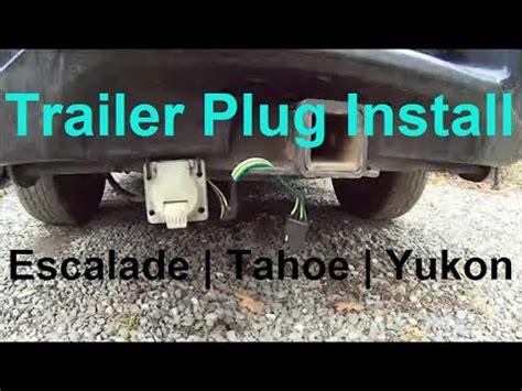 trailer plug wiring escalade tahoe yukon  pin