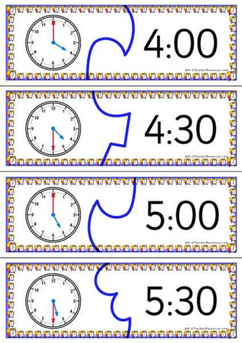 printable clock puzzle telling time puzzles printable puzzles for teaching time