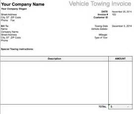 Trucking Invoice Template Free by Free Towing Invoice Template Studio Design Gallery