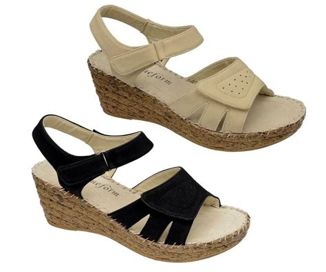 lightweight sandals womens wide fit lightweight wedge leather lined sandals