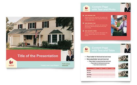 Home Real Estate Powerpoint Presentation Template Design Property Presentation Template
