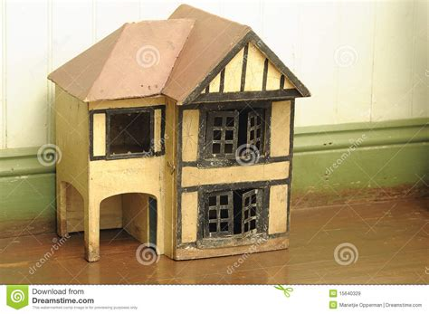 small wooden doll house an old wooden doll house royalty free stock images image