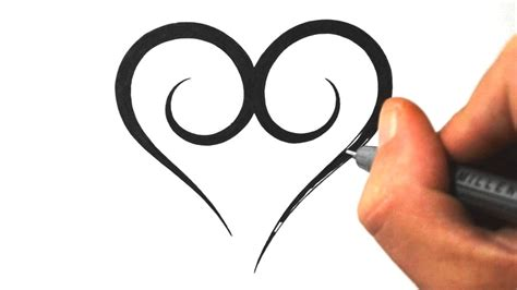 easy heart tattoo designs how to draw a simple tribal design 3