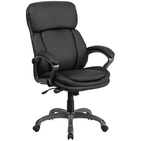 ergonomic home ergonomic home high back black leather executive swivel