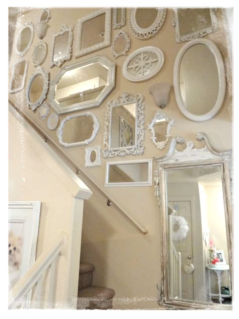 wall of mirrors not so shabby shabby chic mirrors flowers fur babies