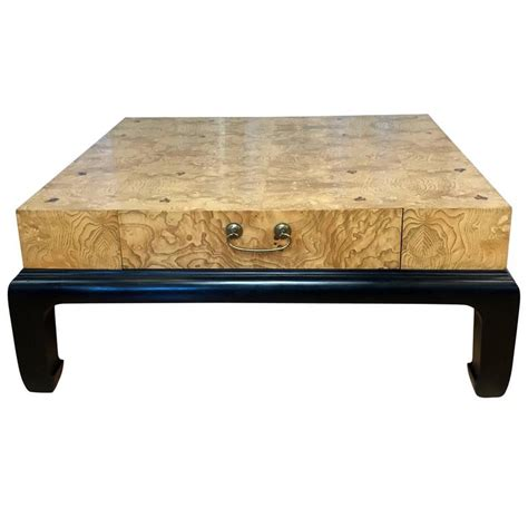 henredon coffee tables large burl wood coffee table with drawers attributed to henredon for sale at 1stdibs