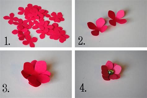How To Make Paper Flowers Steps - diy paper flower tutorial step by step