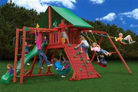 outdoor kids swing set 30 cool outdoor play sets for kids summer activities