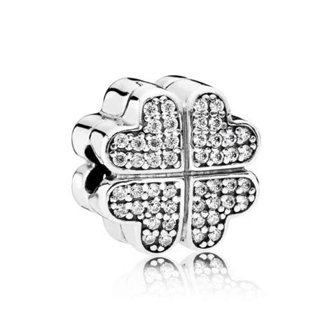 Pandora Loving Pandora Clip P 789 pandora petals of clip charm 791805cz greed jewellery