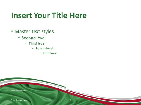 Italy Flag Powerpoint Template Presentationgo Com Italian Powerpoint Templates