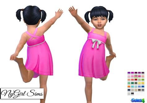 js sims 4 bow collar dress sims 4 bow dress pleated tank dress with bow at nygirl