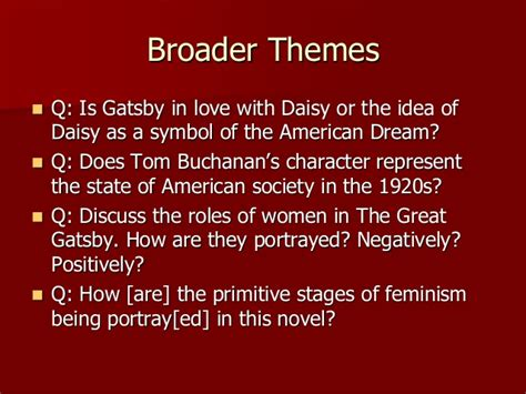 feminist themes in the great gatsby elit 48 c class 3 post qhq for 2016