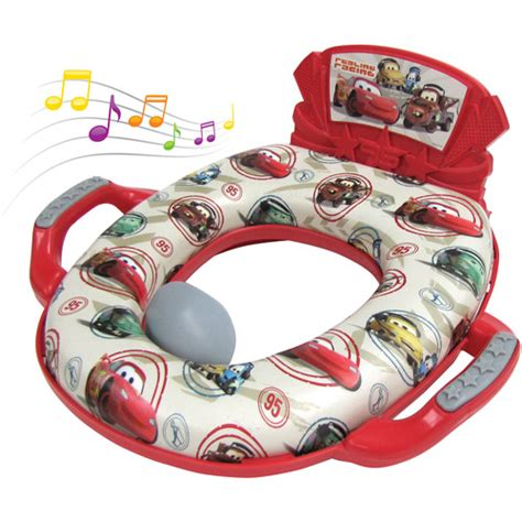 disney cars deluxe soft potty seat with sound walmart