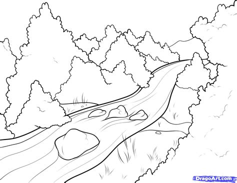 River Scene Coloring Page Best Photos Of River Coloring Color Coloring