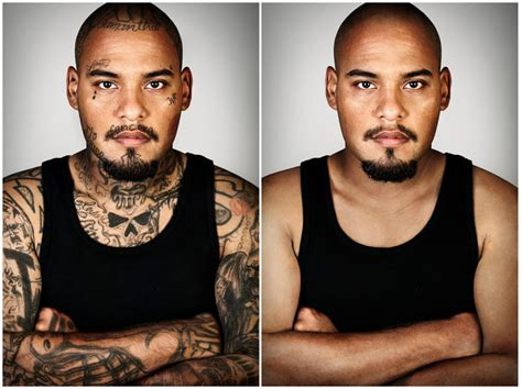 gang tattoo removal powerful portraits of ex members with their tattoos