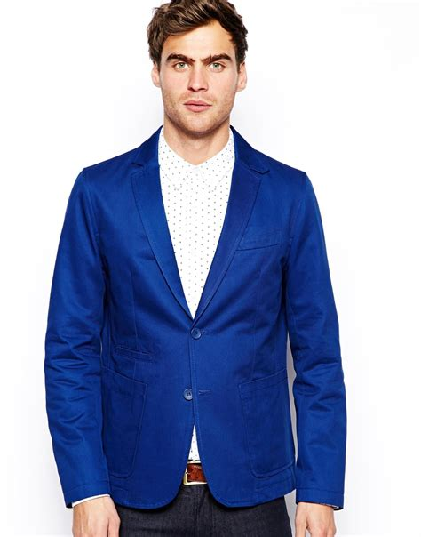 Outerware Blazer lyst connection blazer jacket in blue for
