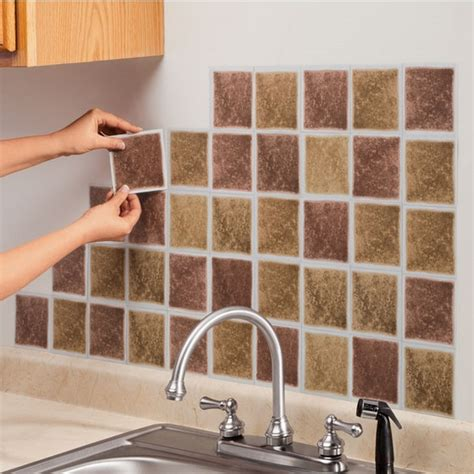 Adhesive Kitchen Backsplash Self Adhesive Backsplash Tiles Save Money On Kitchen Renovation