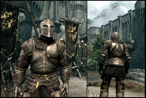 skyrim heavy armor mod witcher 2 style dawnguard and standard heavy plate at