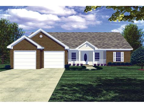 front porch on ranch style home pompeii ranch style home plan 077d 0020 house plans and more