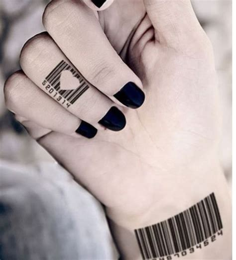 barcode tattoo with birthday bar code with heart tattoo tattoos we like pinterest