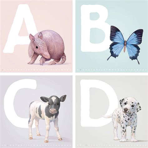the illustrated a z of illustrated animal letters a to z prints by little blue zebra notonthehighstreet com