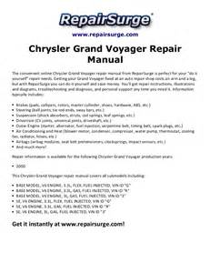 chrysler grand voyager repair manual 2000
