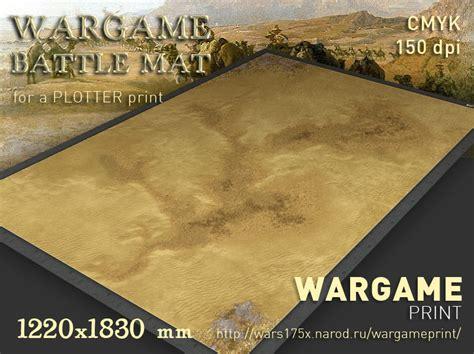 Mat Battle by Battle Mat 061 Desert Plain Wargameprint Battlemats