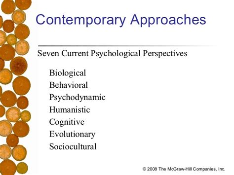 what are the seven contemporary perspectives in psychology psych 101 chapter one