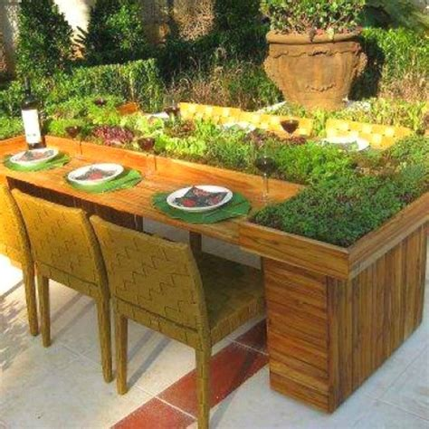 Kitchen Bench Herb Garden Herb Or Salad Garden Table Garden