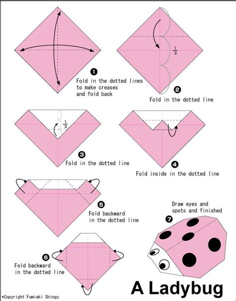 How To Make Paper Ladybugs - origami ladybug paper parade origami