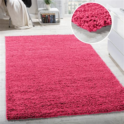 hochflor teppich rosa shaggy hochflor langflor teppich sky einfarbig in pink