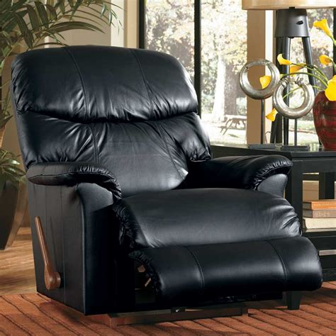 lazyboy leather recliner recline in comfort la z boy larson reclina rocker