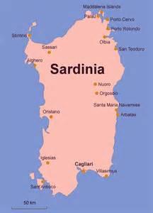Sardinia Italy Map by Ferry To Sardinia