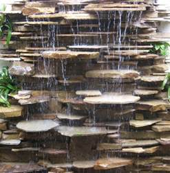 water features and fountains contemporary landscape