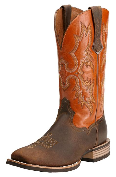 mens brown cowboy boots ariat 174 mens tombstone cowboy boots distressed brown