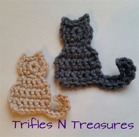free patterns applique crochet pretty kitties applique free crochet pattern trifles