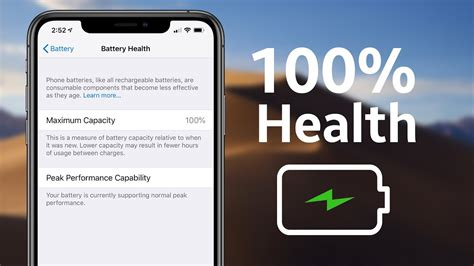 how i keep my battery health at 100 iphone xs max