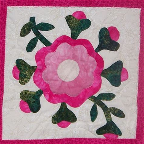 Applique free pattern quilt rose appliq patterns