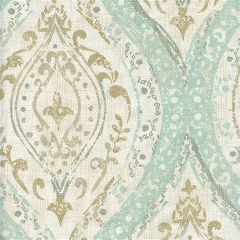 drapery fabric discount ariana spa blue cotton floral medallion drapery fabric by