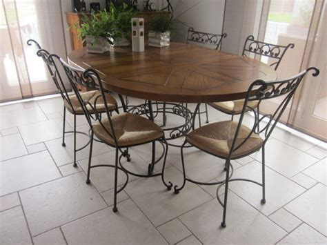 Table Et Chaise De Salle A Manger 950 by Table 6 Chaises Salle Fer Forg 233 Clasf