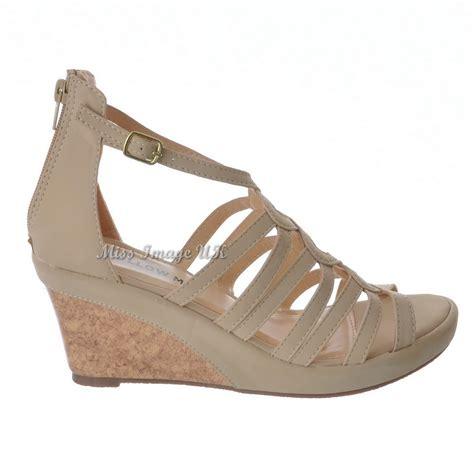 zip up sandals womens strappy zip up cork wedge peep toe sandals