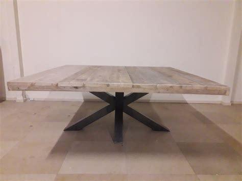 vierkante salontafel met kruispoot salontafel kruispoot stalen kruispoot evenwijdig with