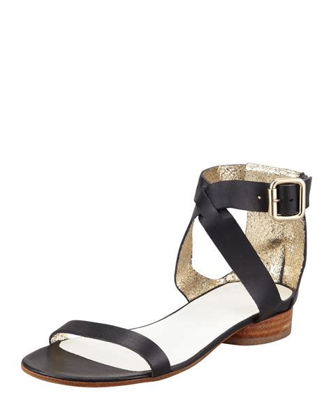 ankle cuff sandals flat maison martin margiela womens ankle cuff flat leather