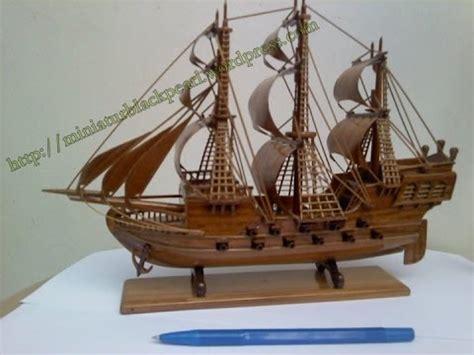 membuat kerajinan perahu kerajinan perahu pinisi mainan videolike